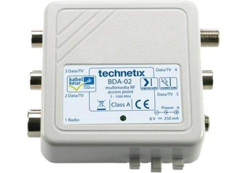 Technetix BDA-01 Opsteek Antenneversterker 4-weg Retourgeschikt