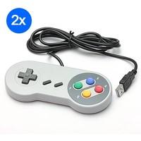 thumb-Super Nintendo controller met USB aansluiting| 2 stuks-1