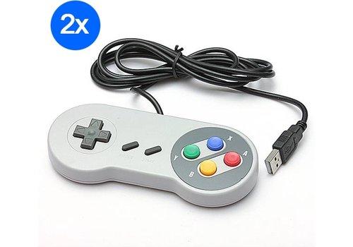 Super Nintendo controller met USB aansluiting | 2 stuks