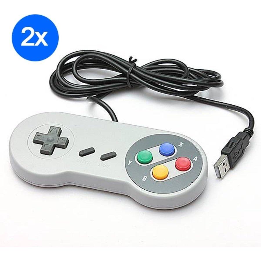 Super Nintendo controller met USB aansluiting| 2 stuks-1