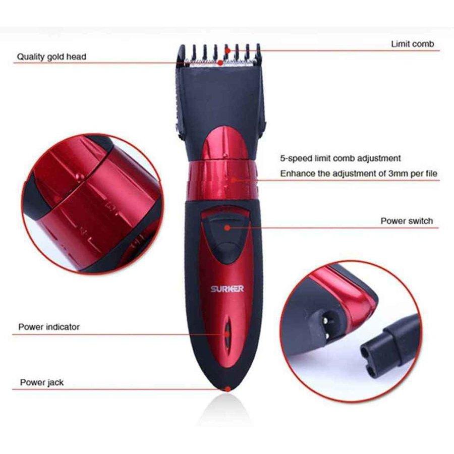 Surker Haar en Baardtrimmer / Professional Hair clipper / HC-7068 / Draadloos / Oplaadbaar / trimmen / scheren-2