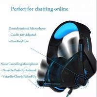 thumb-PHOINIKAS H1 multi-platform gaming-headset voor over-ear hoofdtelefoon met microfoon bedraad (blauw)-2