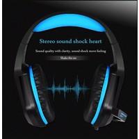 thumb-PHOINIKAS H1 multi-platform gaming-headset voor over-ear hoofdtelefoon met microfoon bedraad (blauw)-4