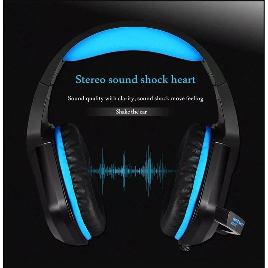 PHOINIKAS H1 multi-platform gaming-headset voor over-ear hoofdtelefoon met microfoon bedraad (blauw)-4
