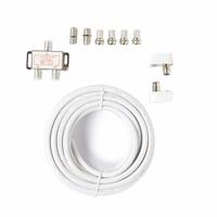 SGL TV Coax Kabel X1 | 5 meter | wit