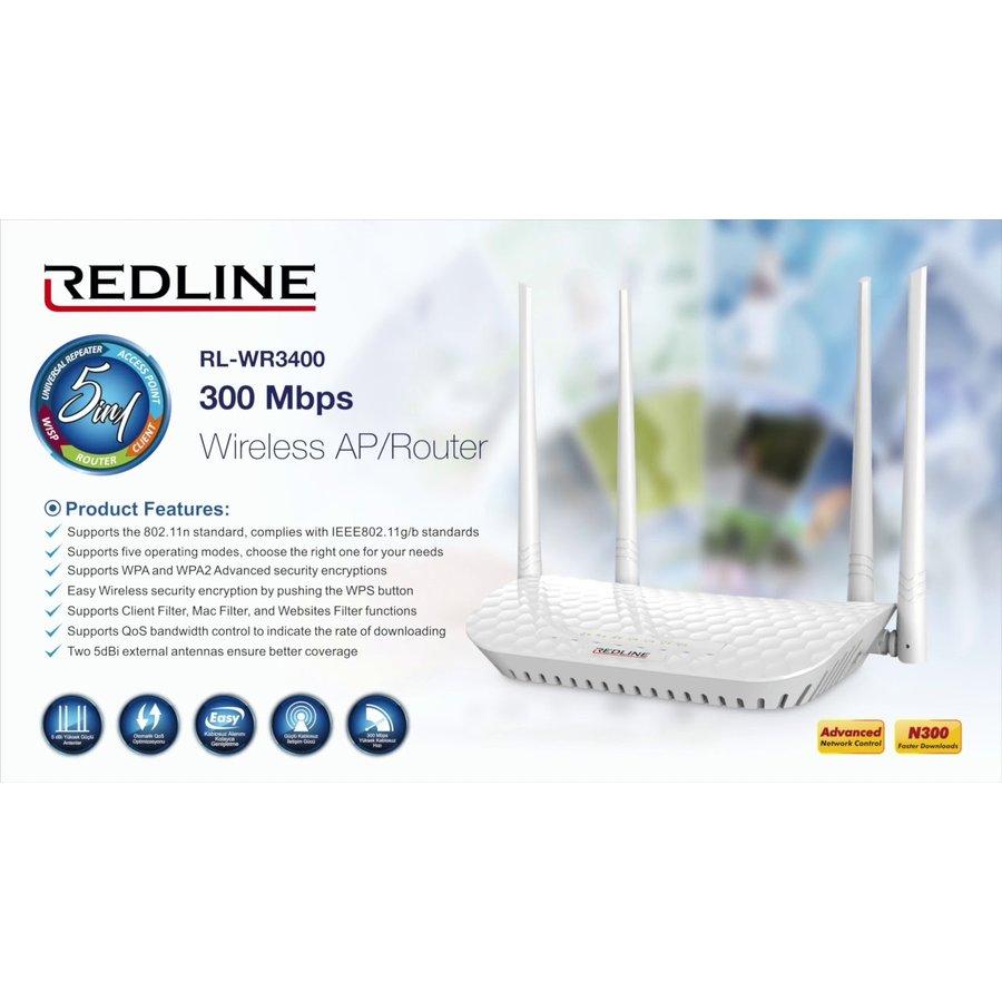 Redline RL-WR3400 300Mbps Wireless router-2