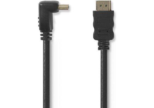 Zazitec HDMI 1.4 High Speed kabel Haakse aansluiting 1.5m