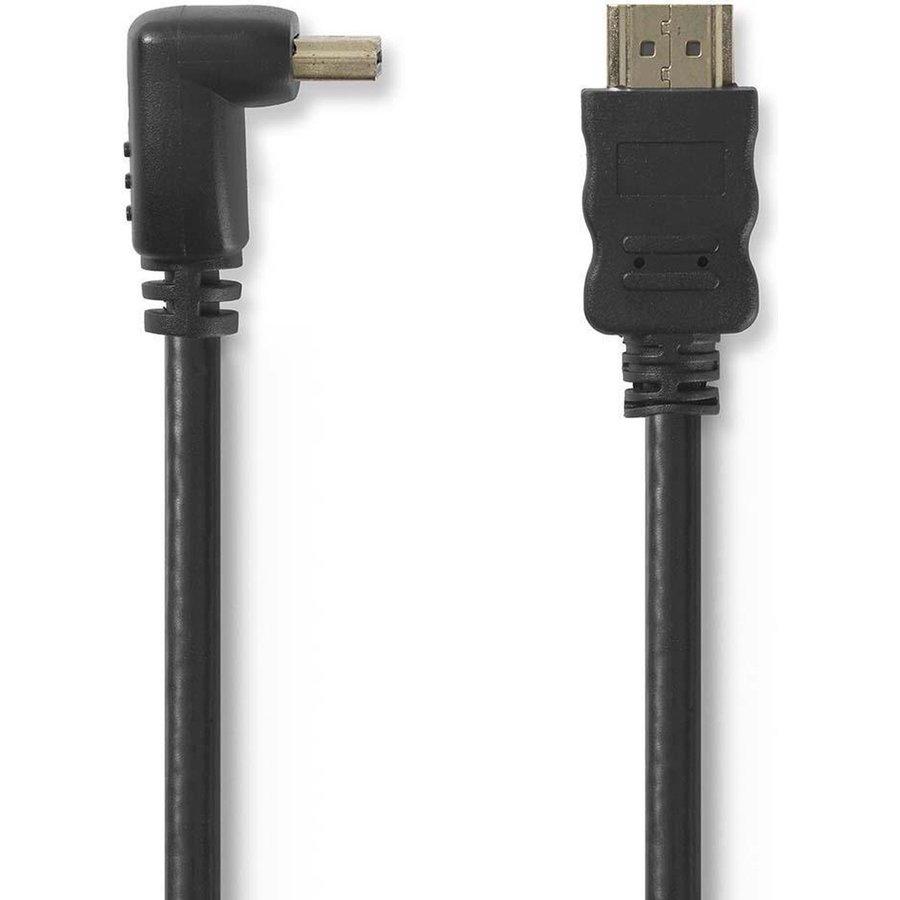 Zazitec HDMI 1.4 High Speed kabel Haakse aansluiting 1.5m-1