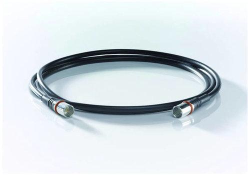 Wisi DS50U0300 1.5m coax-kabel | F snel male - F snel male | Zwart