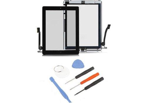 iPad 4 scherm digitizer glas touchscreen Zwart