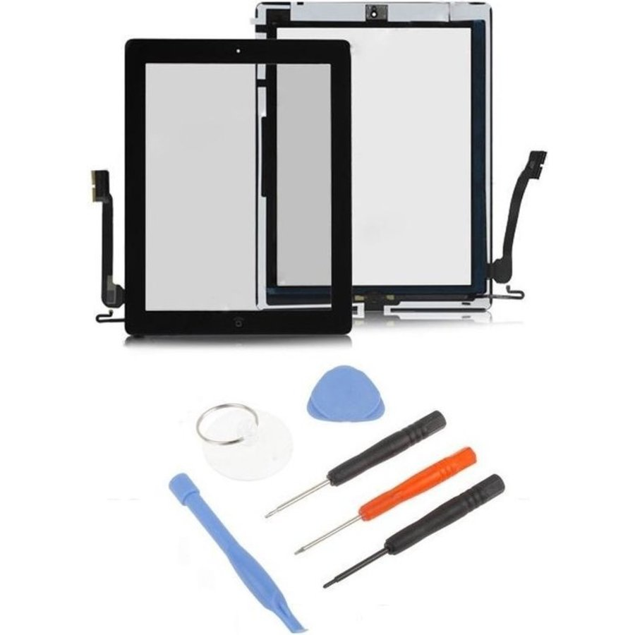 iPad 4 scherm digitizer glas touchscreen Zwart-1