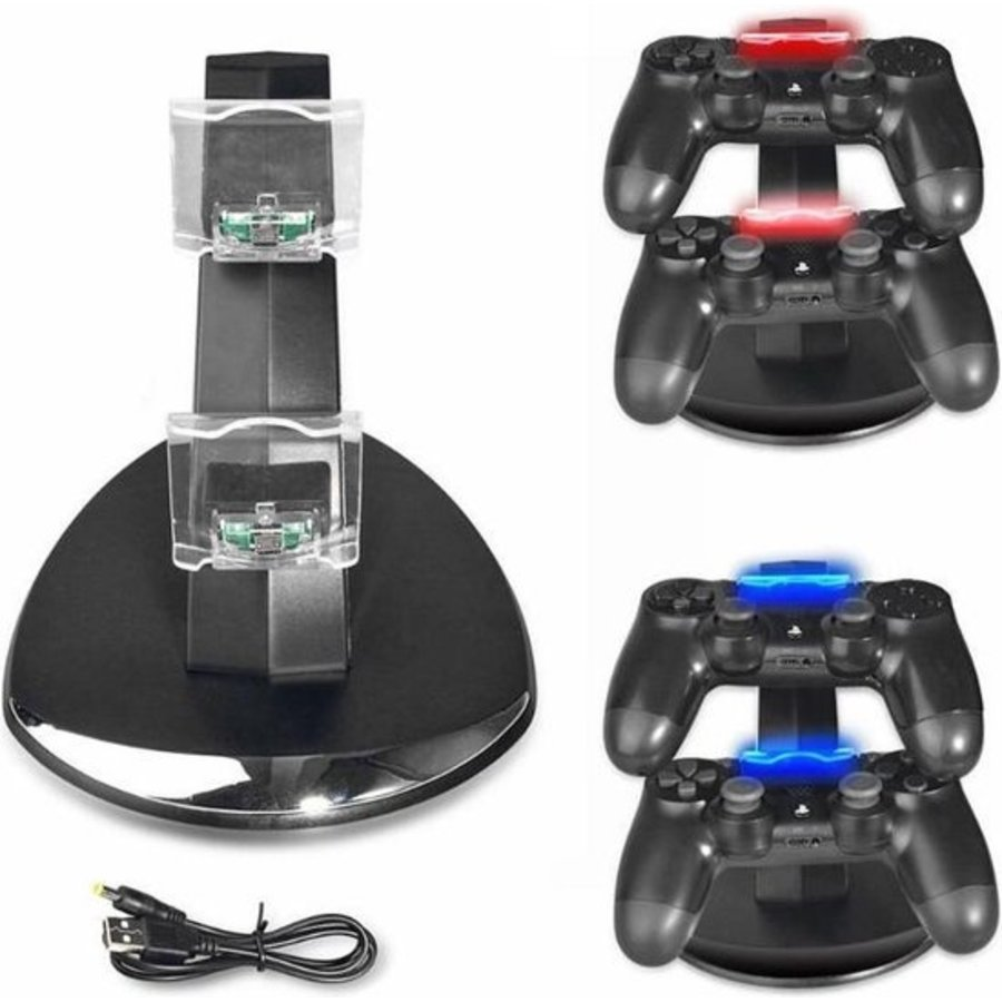 Oplaadstation Controller Dock Charger | PS4 - PS4 Slim - PS4 Pro | Dubbel Laadstation PS4 Controllers-1