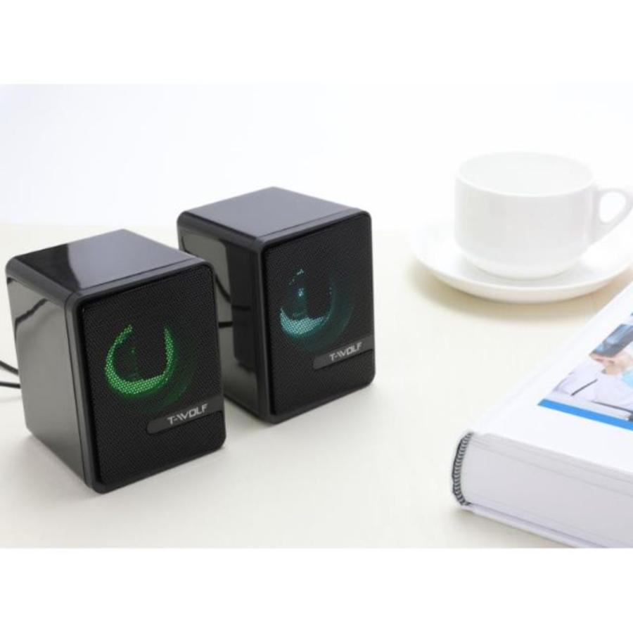 T-WOLF S3 speakers   2.0   6W   USB   3.5mm-4