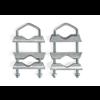 Zazitec Balkonklemmen | U-vormige mastklem | 2 stuks