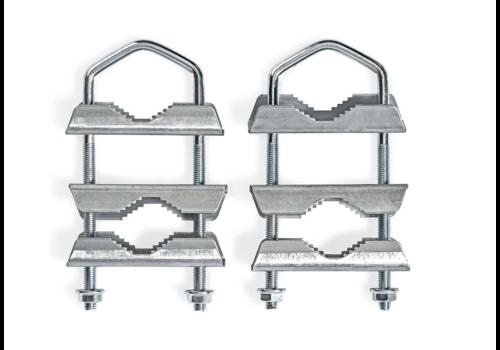 Balkonklemmen | U-vormige mastklem | 2 stuks