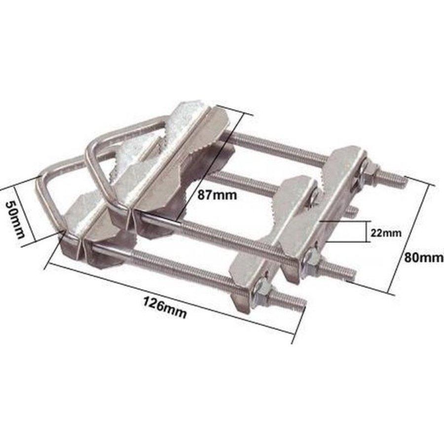Balkonklemmen | U-vormige mastklem | 2 stuks-2