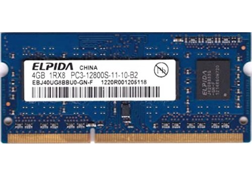 Elpida 4GB | DDR3 | SODIMM | PC3-12800S | 1600MHz