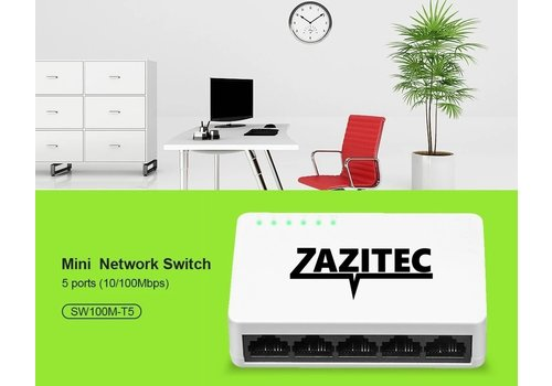 Zazitec 5-poorts netwerk switch