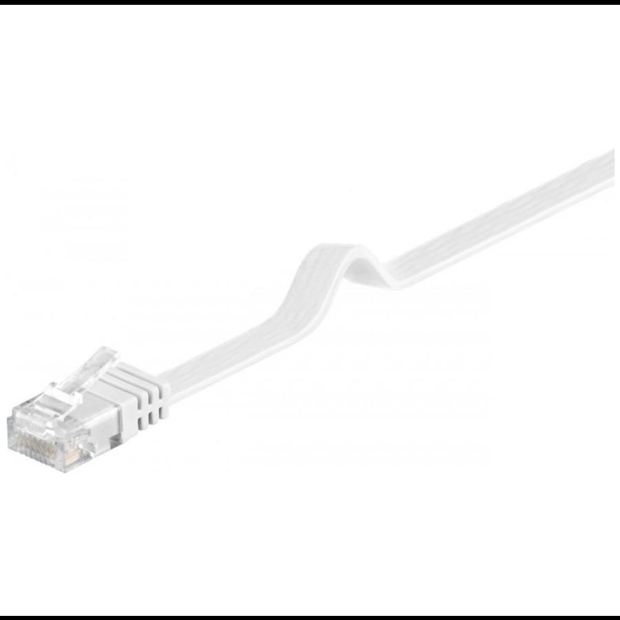 Platte internetkabel | CAT5E | 1.5m | Wit-1