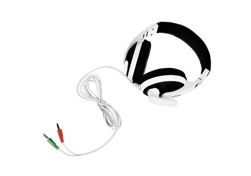 Kubite T-155 Headset met Microfoon voor Computer & Laptop - zwart/wit