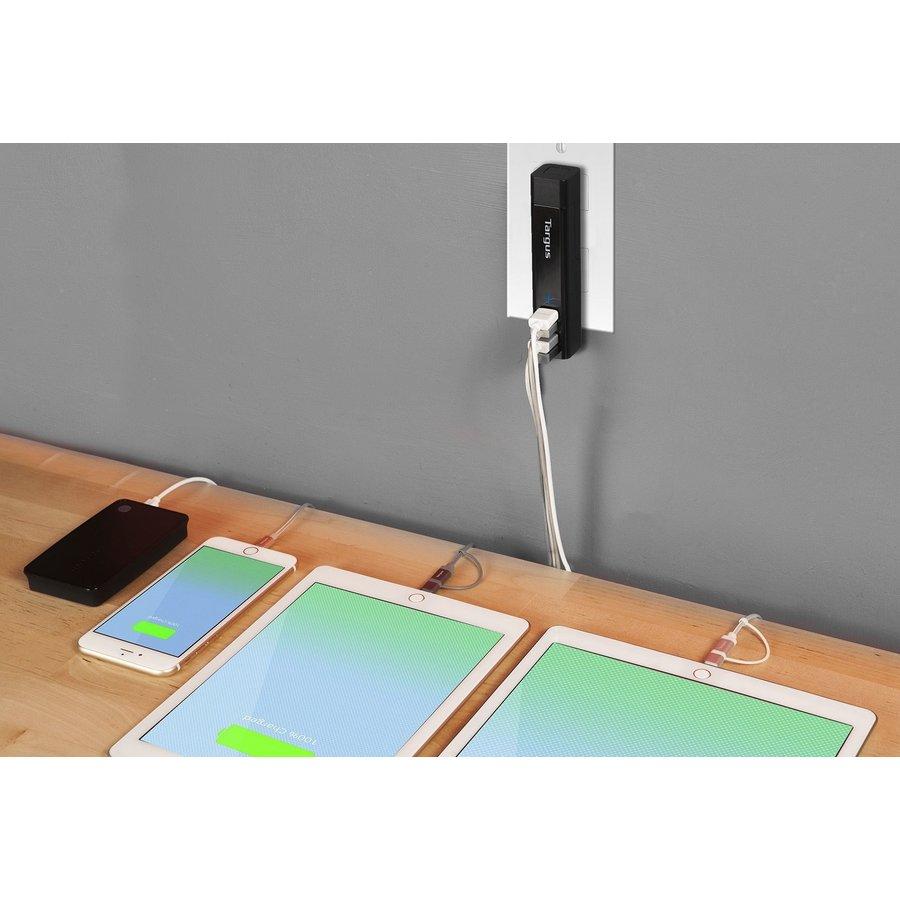 Targus 4-Way USB Fast Charger | zwart | APA750EU-3