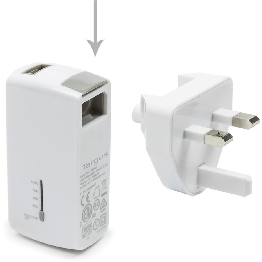 Targus 2100mAh, USB-A Powerbank - Wit-2