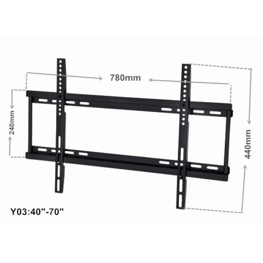 "ZIZA B02 TV beugel | 40""-70"" inch (102-178 cm) | vast | zwart  | max 50 kg-2"