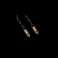 DQ-AV video kabel | 2 x 1 RCA | tulp | verguld | 3 meter