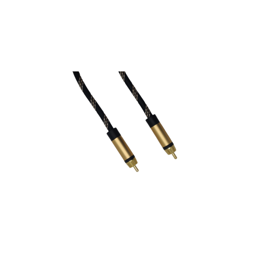 DQ-AV video kabel | 2 x 1 RCA | tulp | verguld | 3 meter-1