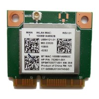 thumb-HP 753077-001 WLAN adapter  802.11 b/g/n | Wi-FI + Bluetooth 4.0-1