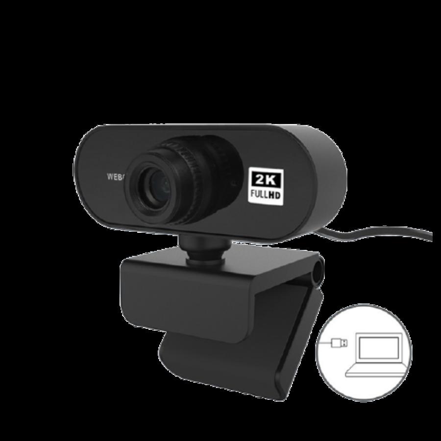 ZIZA Z2K webcam met microfoon | 2K Quad HD | 2560×1440-2