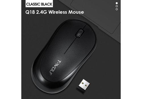 T-WOLF Q18 Wireless Mouse   2.4 Ghz draadloos   1600 DPI   Zwart