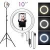 G. enterprise lights LED ringlamp met statief met telefoonhouder   verstelbaar tot 2,10m   TikTok lamp
