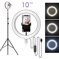thumb-LED ringlamp met statief met telefoonhouder | verstelbaar tot 2,10m | TikTok lamp-1