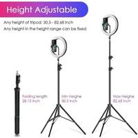 thumb-LED ringlamp met statief met telefoonhouder | verstelbaar tot 2,10m | TikTok lamp-8