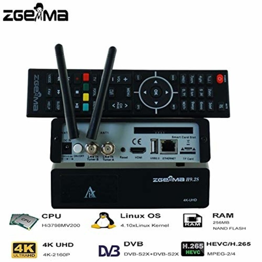 Zgemma H9.2S | 4K UHD | HEVC | SAT-1