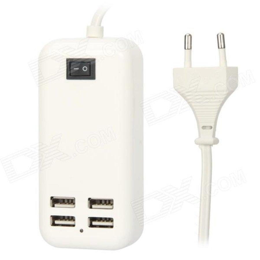 15W 4-Port USB oplader voor mobiele telefoons & tablets-1