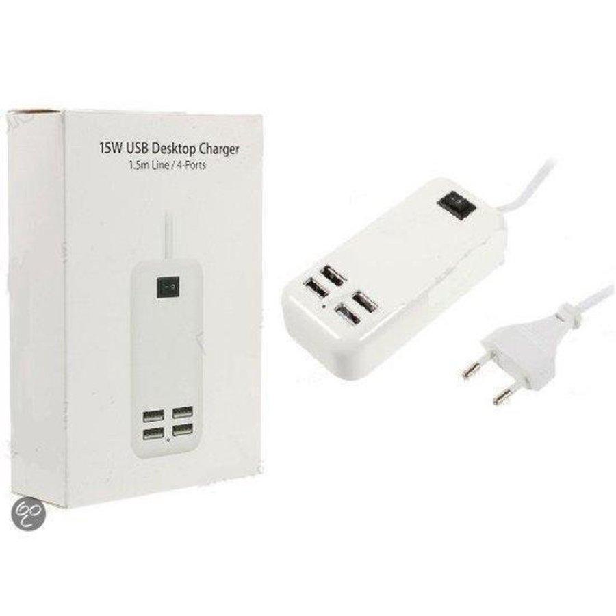 15W 4-Port USB oplader voor mobiele telefoons & tablets-2