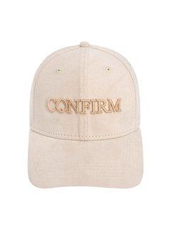 Confirm Brand Suede Cap Salmon