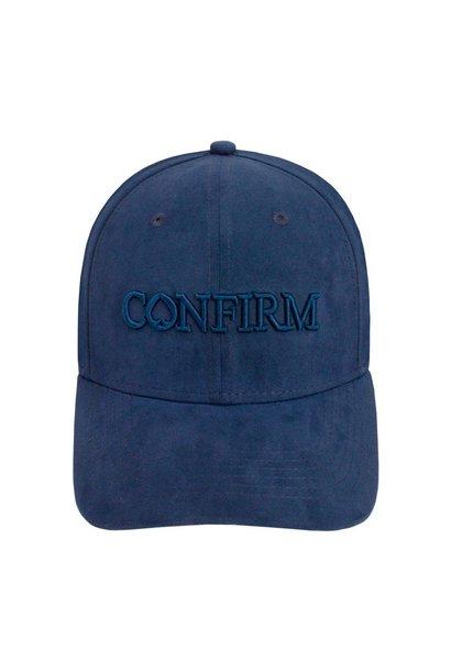Brand Suede Cap Blue