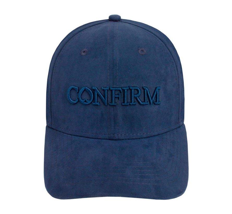 Confirm Brand Suede Cap Blue