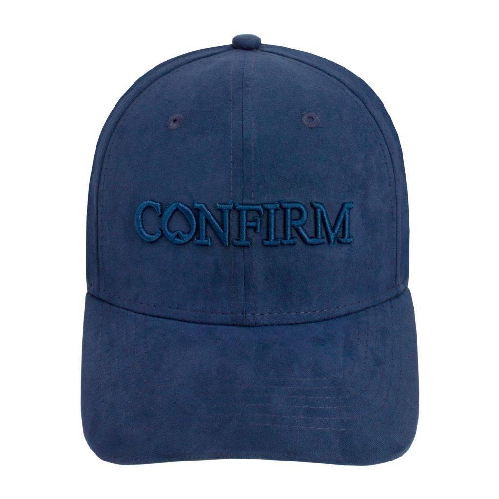 Confirm Brand Suede Cap Blauw-2