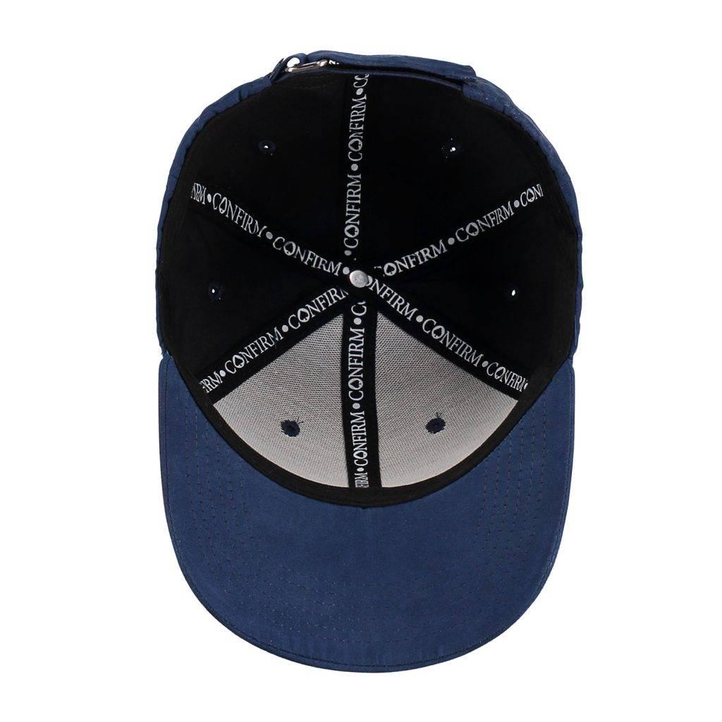 Confirm Brand Suede Cap Blauw-4