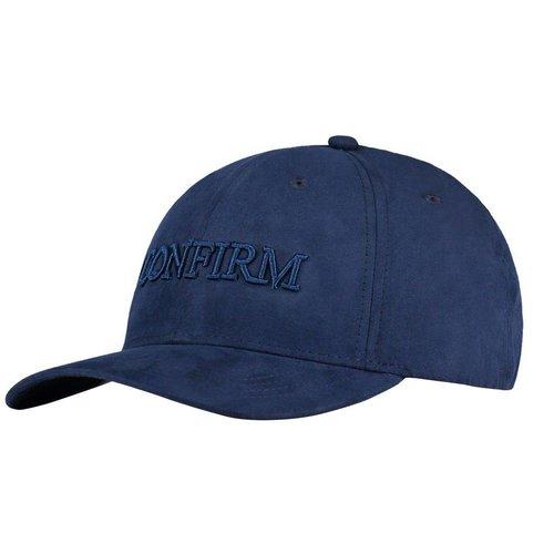 Brand suede look cap - navy