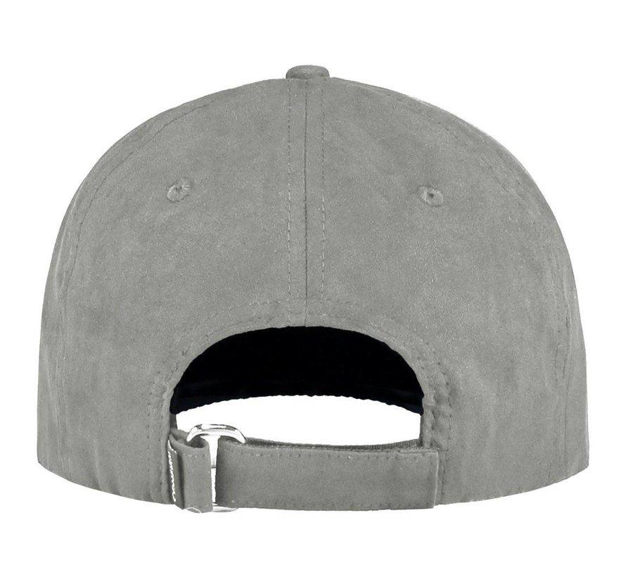 Confirm Brand Suede Cap Grey