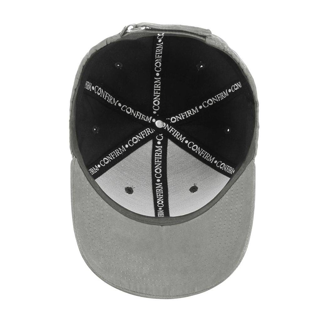 Confirm brand suede look cap - light grey-4