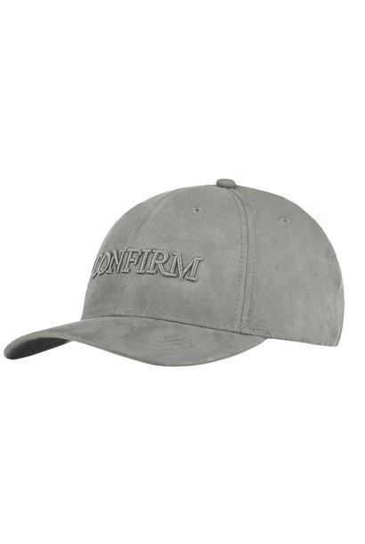 Brand Suede Cap Grey