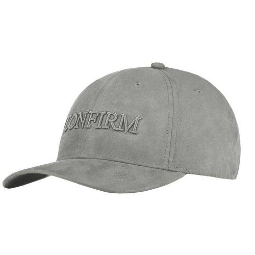 Brand suede look cap - light grey