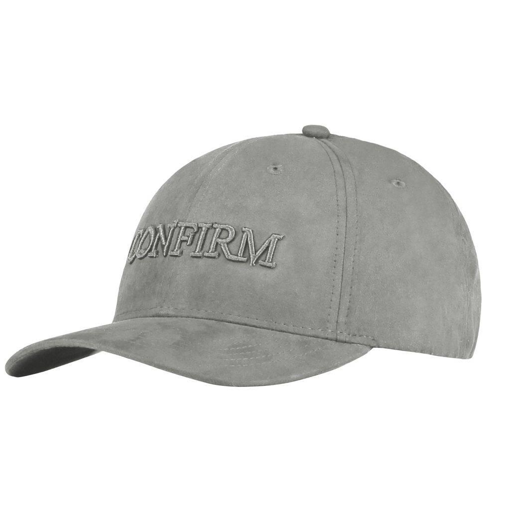 Confirm brand suede look cap - light grey-1