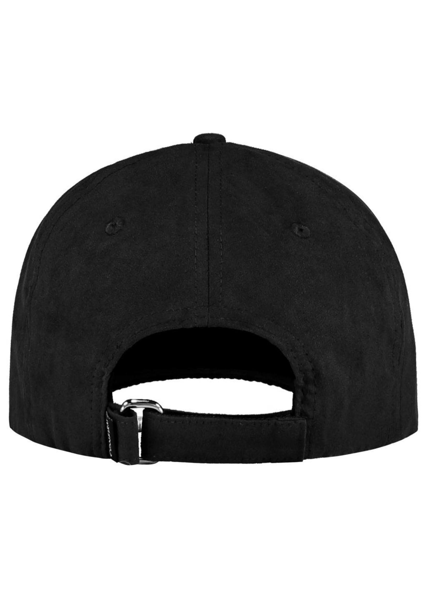 Confirm brand suede look cap - zwart
